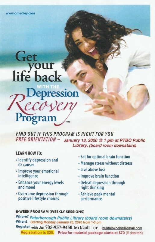 Depression Recovery Program 2020